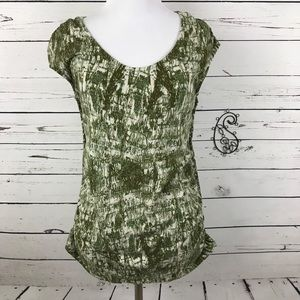 Liz Lange Maternity For Target Green Shirt Top